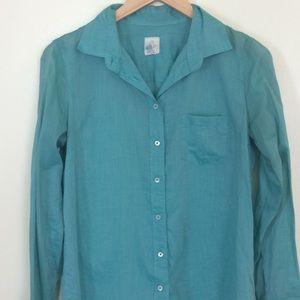 """J.Crew teal """"The Boy Shirt"""" button up"""